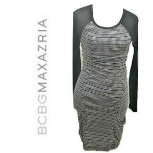 BCBG MaxAzria Size S Wiggle Dress Midi Modal Knit